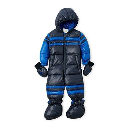 84a078652517 Diesel Dark Gray Baby Boy Printed Foiled Snowsuit - Walmart.com