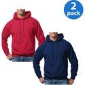 2-Pack Hanes Men's ComfortBlend EcoSmart Fleece Pullover Hood