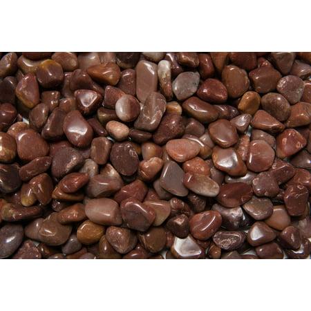 Fantasia Crystal Vault: 1 lb Red Aventurine Tumbled Stones - Small - 0.75