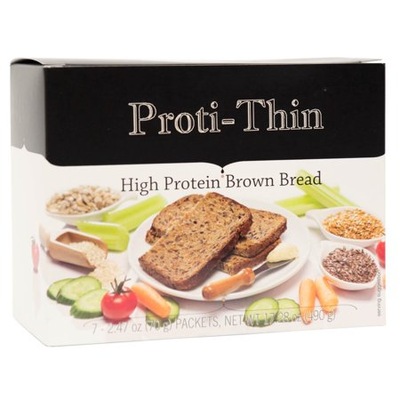 - Proti-Thin - High Protein Brown Bread - 15g Protein - High Fiber - Low Net Carb -Diet Bread - 7/Box