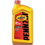 Pennzoil High Mileage 10W-40 Conventional Motor Oil, 1 Quart