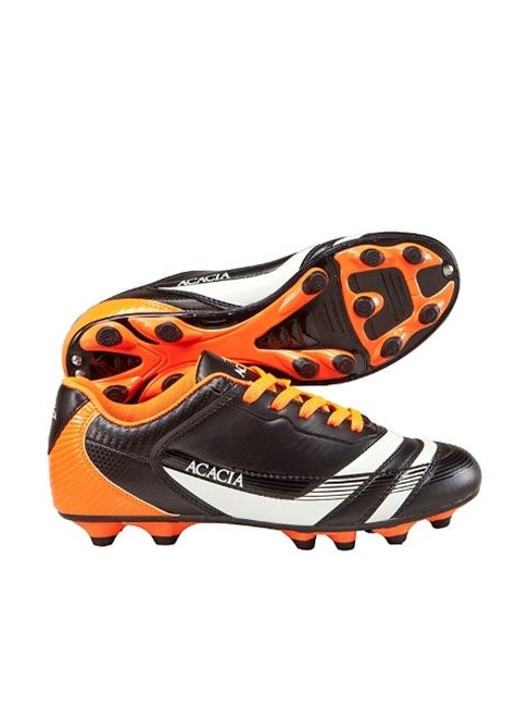 Acacia STYLE -37-612 Thunder Soccer Shoes - Black and Orange, 12A