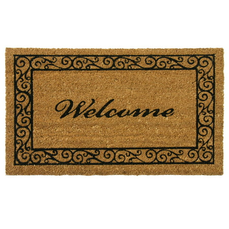 "Rubber-Cal ""Estate Style Welcome Doormat"" Coco Coir Mats, 18 x 30-Inch"