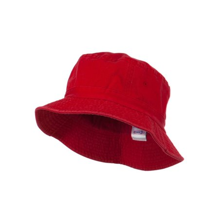 Pigment Dyed Bucket Hat, Red - Red Bucket Hats