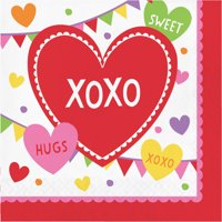 (4 Pack) Valentines Day Party Napkins
