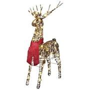 Starry Night Lighted Grapevine Deer Prop