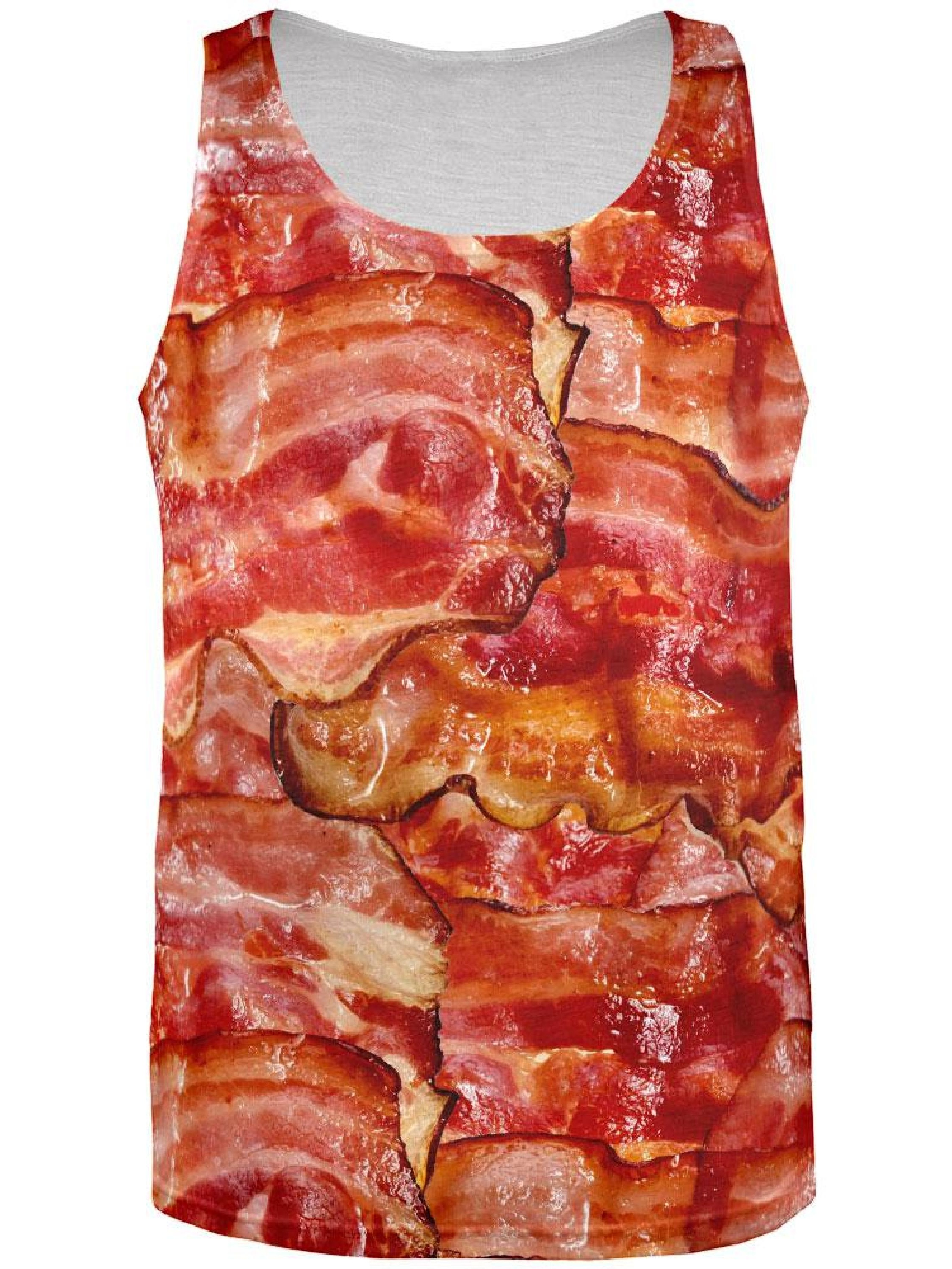 Bacon All Over Adult Tank Top