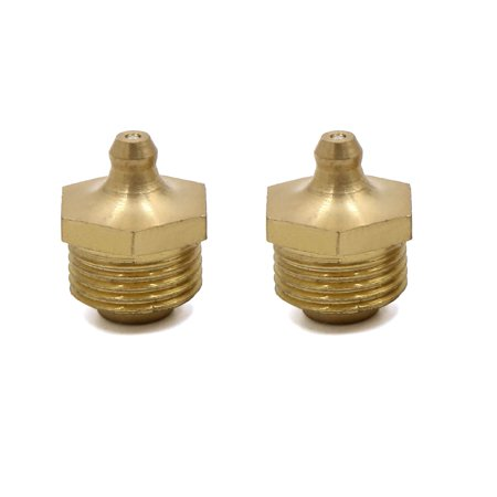 2pcs M18 x 1.5 Thread Brass Straight Grease Nipple Fitting for