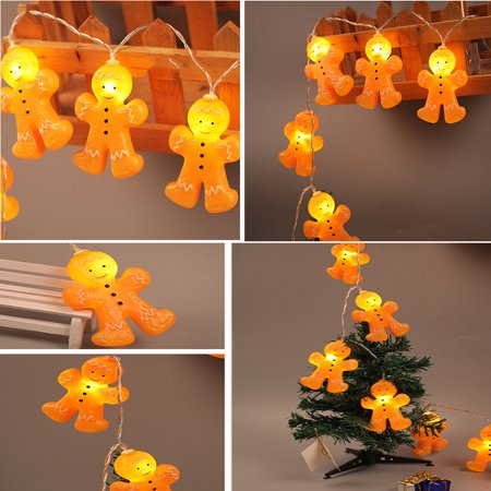 Decorative light Christmas Gingerbread Men String Christmas Novelty string Lights 1.2M 10LED ()
