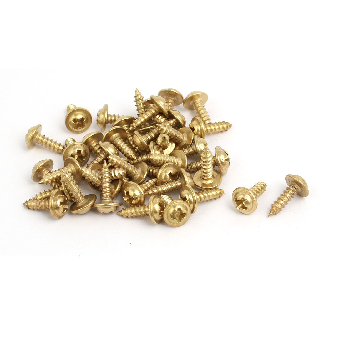 Uxcell 40pcs 40mmx12mmx1mm Picture Frame Turn Button Photo Turnbutton Gold Tone w Screw - image 3 of 4