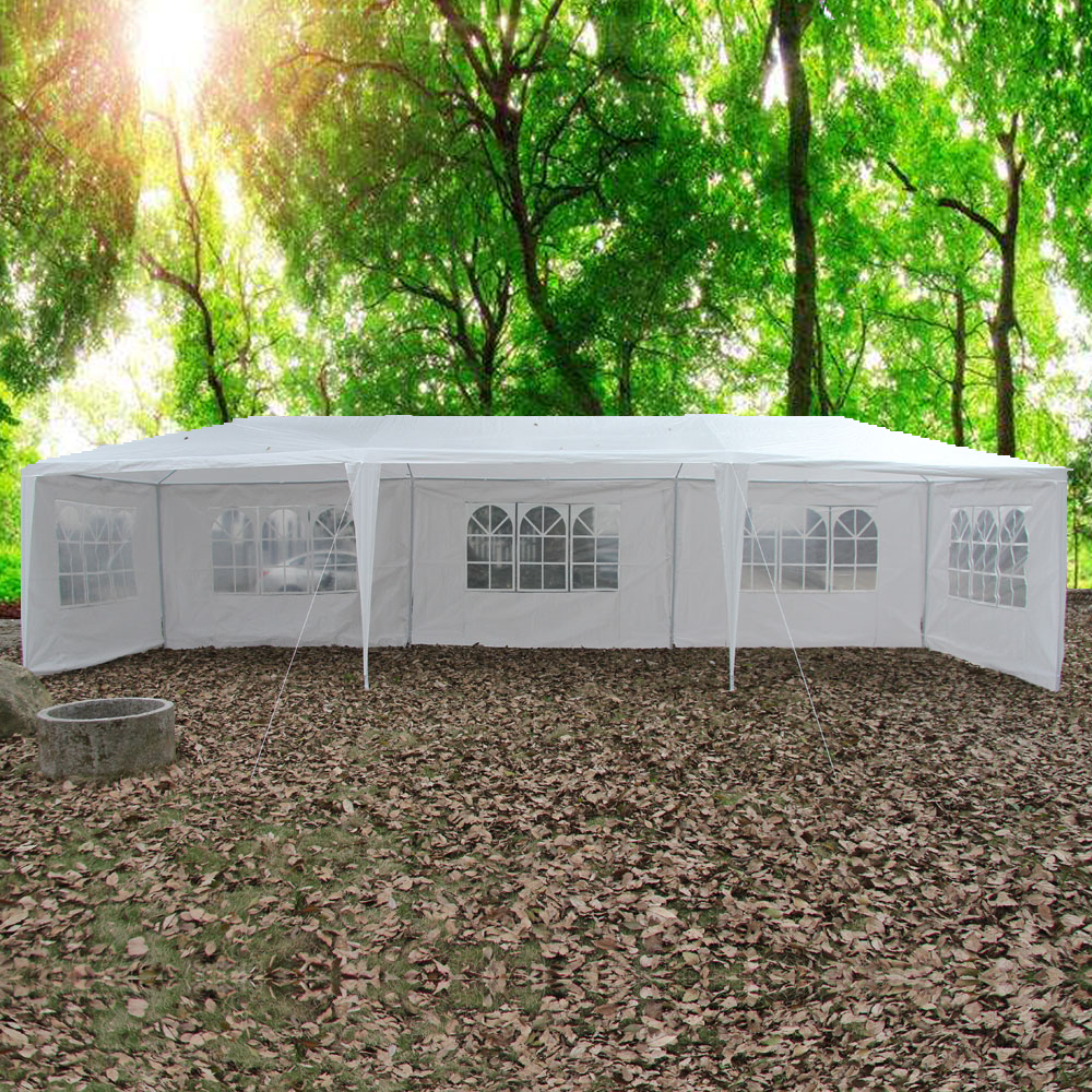 Ktaxon 10'x30' White Party Tent Gazebo Canopy with Sidewalls Windows