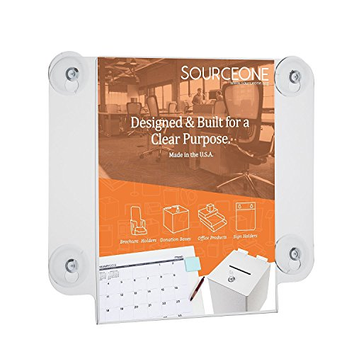 Source One Deluxe 8 x 10 Inches Sign Holder Glass Window ...