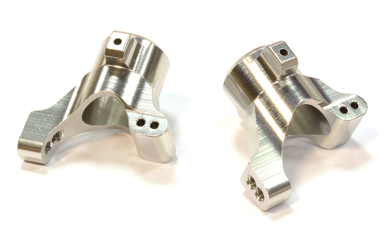 Integy RC Toy Model Hop-ups C25782SILVER Billet Machined Rear Hub Carrier (2) for Traxxas... by Integy