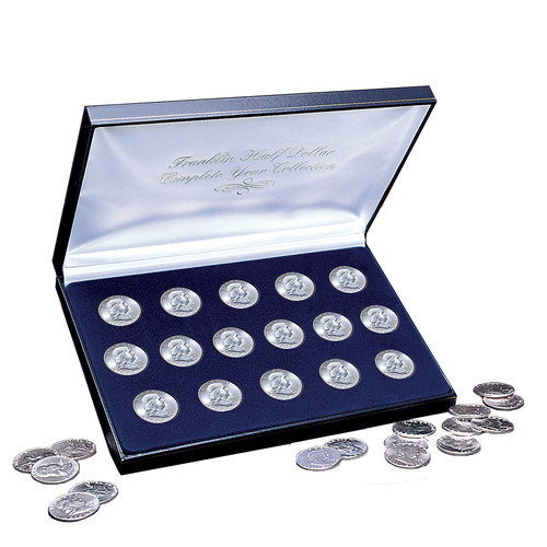 American Coin Treasures 1948-1963 Complete Franklin Silver Half Dollar Collection Display Box