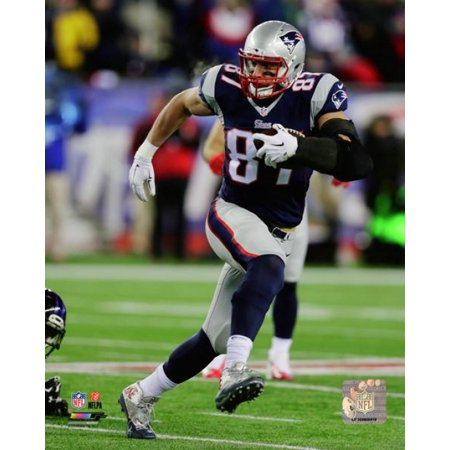 Rob Gronkowski 2014 Playoff Action Photo Print