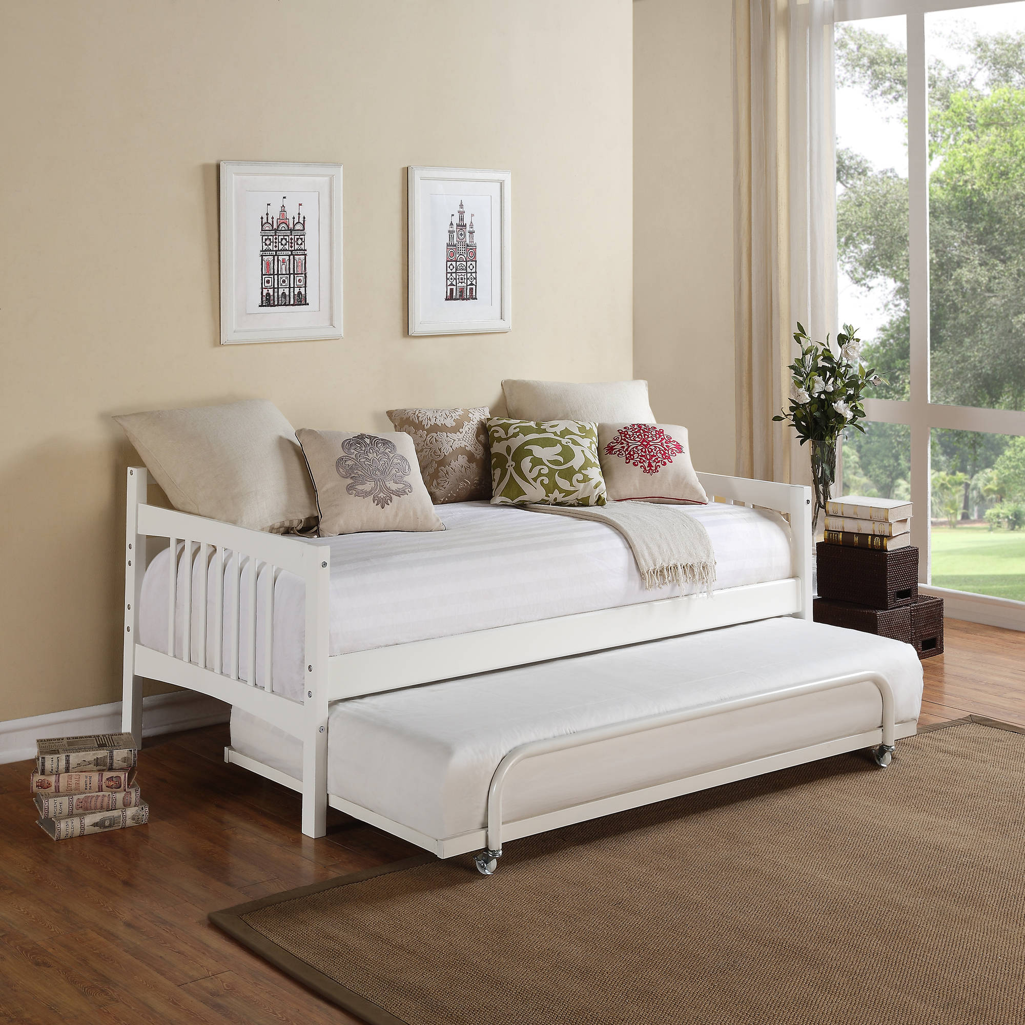 dorel home bombay metal bed multiple colors multiple sizes walmartcom - Metal Frame Twin Bed