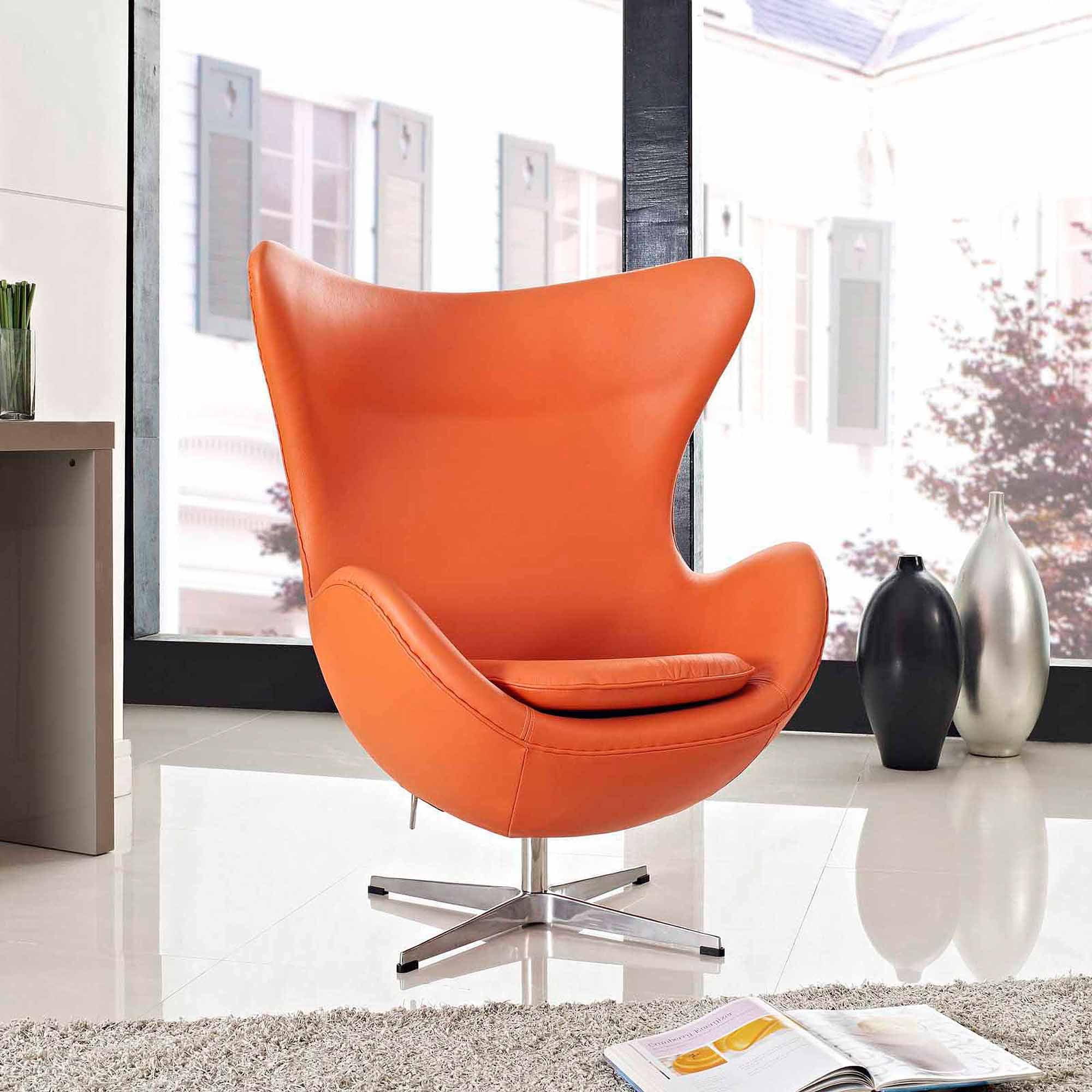 Glove Leather Lounge Chair EEI-528