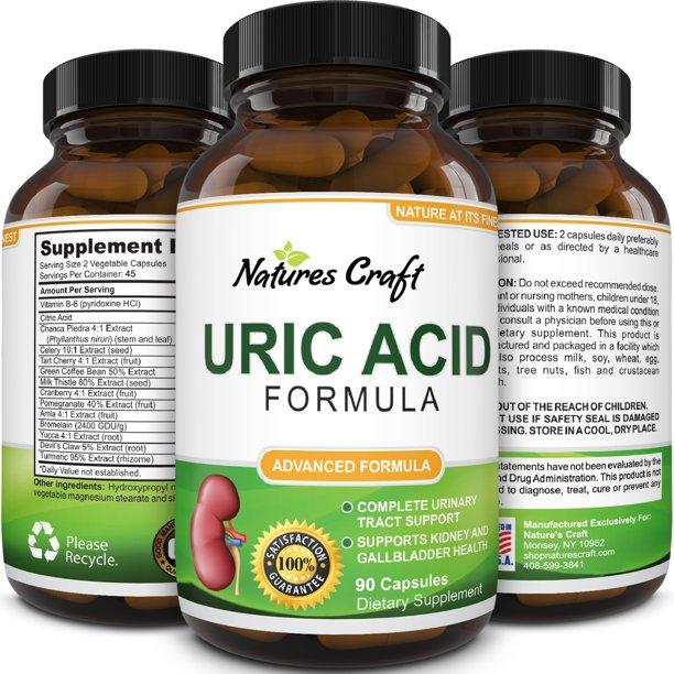 Natures Craft Uric Acid Detox Cleanse Formula Decrease Acidity