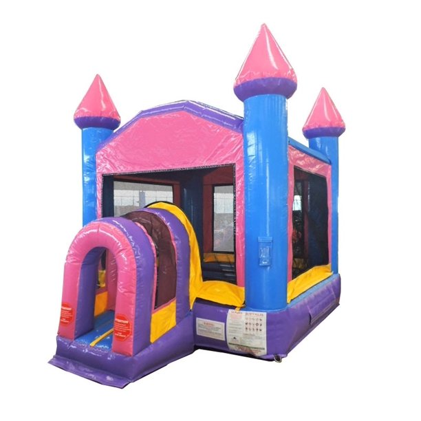 Pogo Commercial Inflatable Bounce House Pink Kids Bouncy Castle