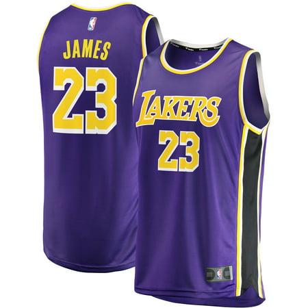 0f53f27e615 LeBron James Los Angeles Lakers Fanatics Branded 2018/19 Fast Break Replica Jersey  Purple - Statement Edition - Walmart.com