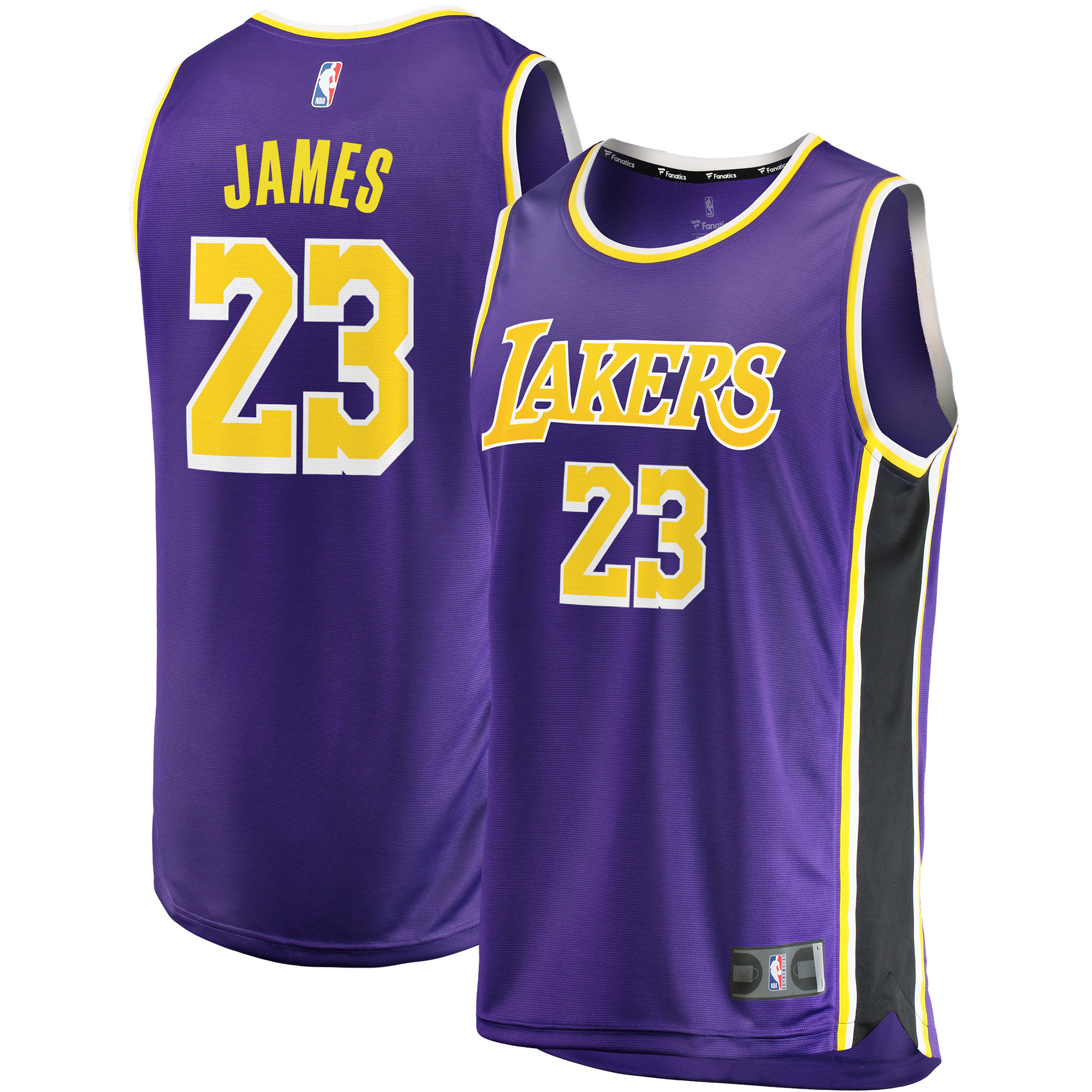 LeBron James Los Angeles Lakers Fanatics Branded 2018/19 Fast Break Replica Jersey Purple - Statement Edition