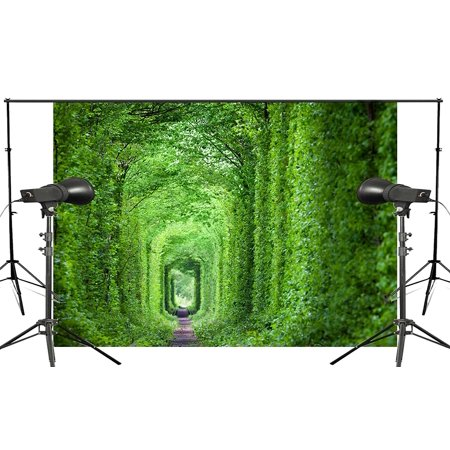 GreenDecor Polyster Beautiful Fairy Tale World Background Woods Train Lanes Photography Backdrop Studio Props Wall 5x7ft Room Mural Backdrop](Fairy Train)