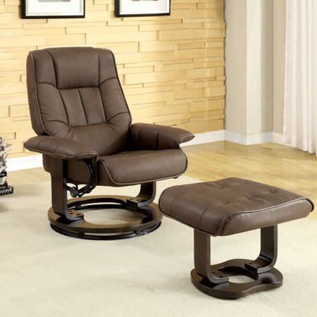 Hokku Designs Manual Swivel Recliner With Ottoman