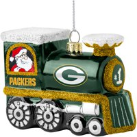 Green Bay Packers Blown Glass Team Logo Train Ornament - No Size