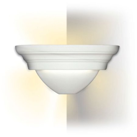 """Image of A19 104CNR Traditional Corner Sconce """"Ibiza"""" Ceramic Light Fixture from the Isla"""