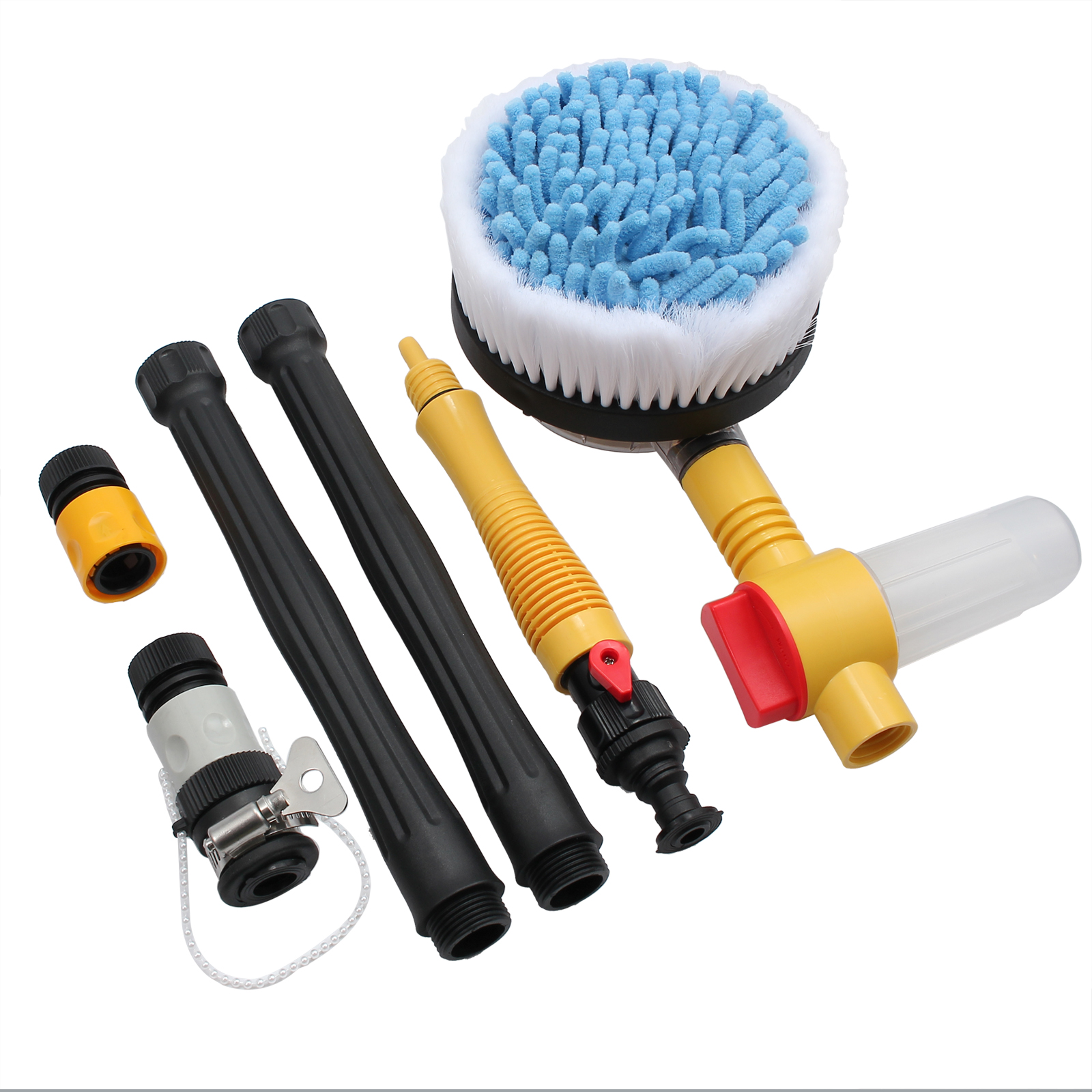 ESYNIC Car Rotating Pole Vehicle Wash Washing Cleaning Brush Sponge Cleaner Hose Car Pressure Washer Rotating Wash Brush Vehicle Care Washing Sponge Cleaner Tool