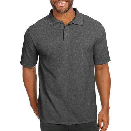Hanes Big men's x-temp with fresh iq short sleeve pique polo shirt