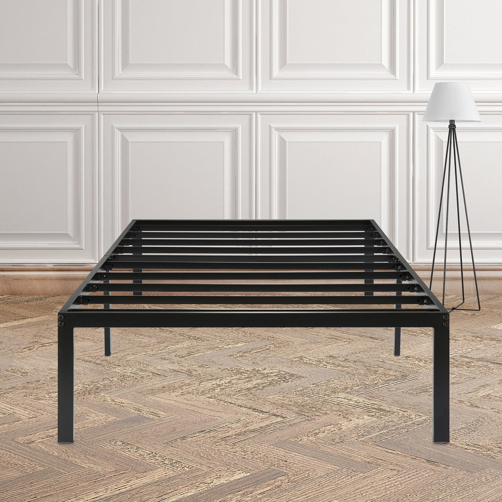 "GranRest 14"" Dura Metal Steel Slat Bed Frame, Twin size, Black by Grantec Co., Ltd"