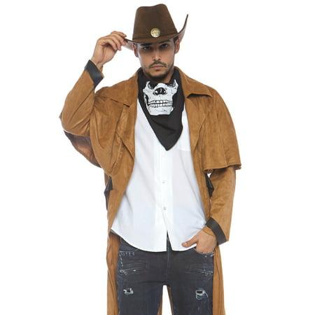 Men's Western Duster Coat, Brown, O/S - Brown Cloak