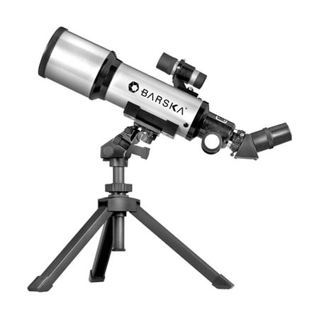 Barska 300 Power 400x70mm Refractor Starwatcher Telescope with Tabletop Tripod and Carrying
