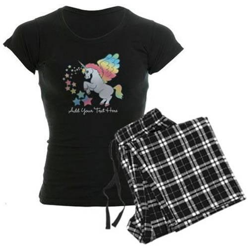 CafePress Unicorn Rainbow Star - Women's Dark Pajamas