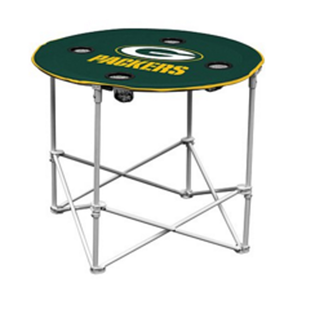 NFL Green Bay PACKERS Portable Folding Polyester Round Tailgate Table