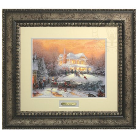 Thomas Kinkade Victorian Christmas II - Prestige Home Collection (Antiqued Silver Frame) ()