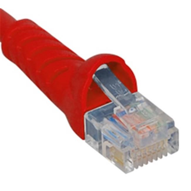 ICC ICPCSK01RD 1 ft.  Cat 6 Molded Boot Patch Cord - Red