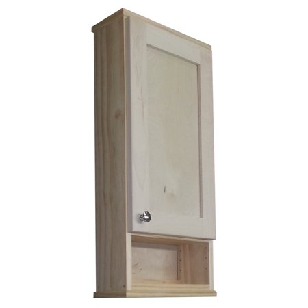 Wg Wood Products Shaker Series 24 Inch Unfinished 725 Inch Deep