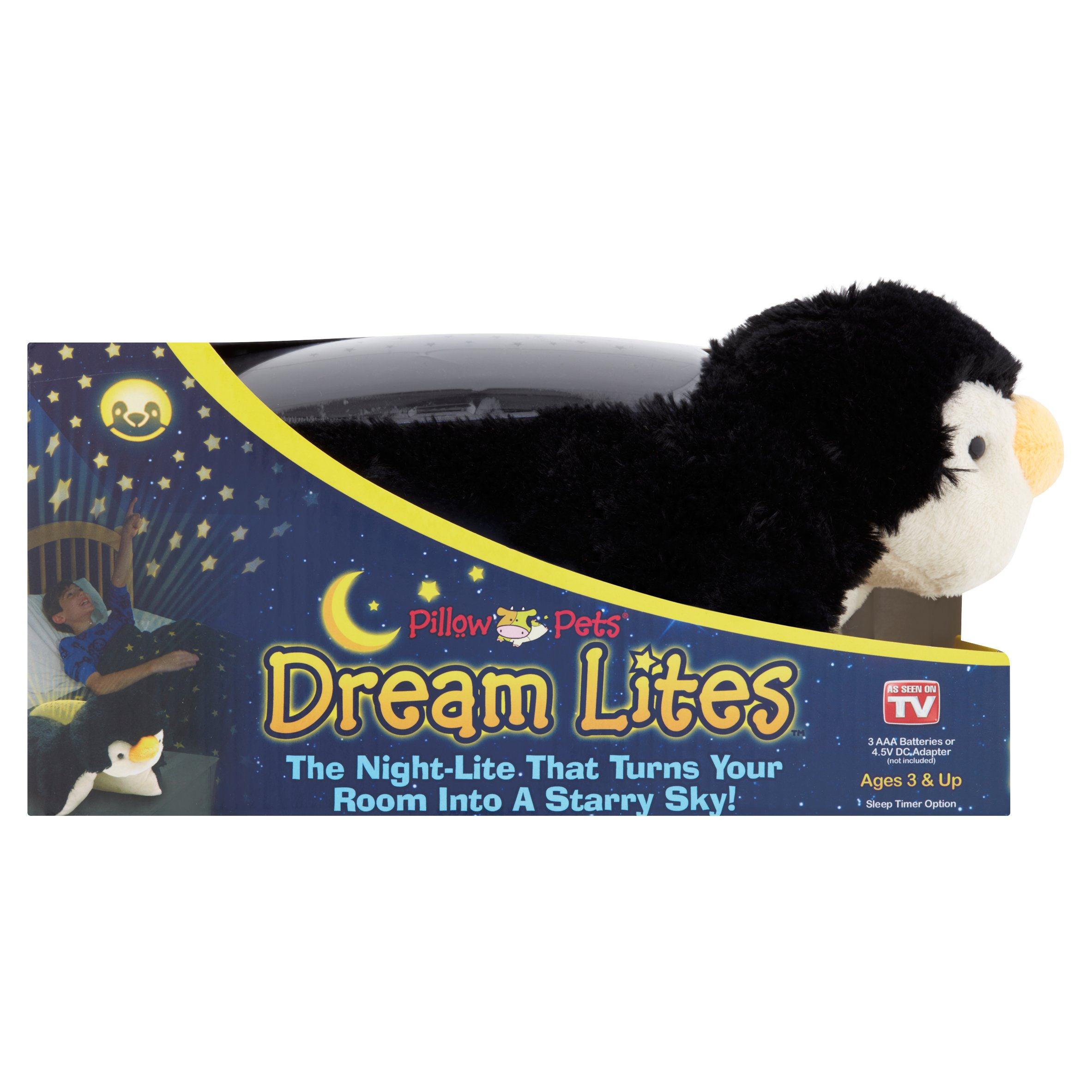 Pillow Pets Dream Lites Playful Penguin Ages 3 & Up