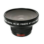 Bower VLB1637B High-Speed Super Fisheye Wide-Angle Lens with Macro 0.16x 37mm