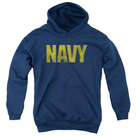 Navy/Logo Youth Pull Over Hoodie   Navy   Na102