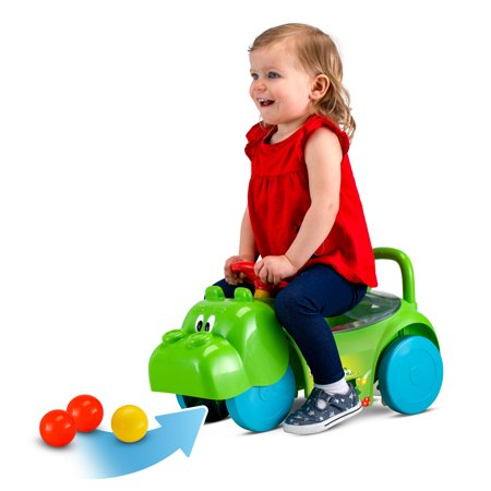 Hasbro Hungry Hungry Hippos 3 in 1 Scoot and Ride On Toy by Kid Trax, Toddler