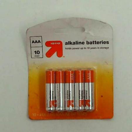 AAA Batteries - 10ct - Up&Up New-AAA Batteries - 10ct - Up&Up