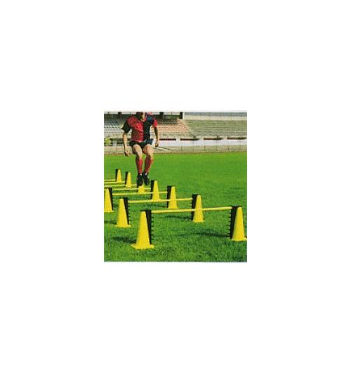 Adjustable Portable Cone & Rod Fitness Hurdles 7 Pc Set by Goal Sporting Goods