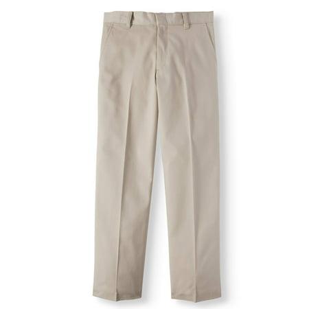 aeda6f632ba7a1 George - Boys' School Uniform Flat Front Pants - Walmart.com