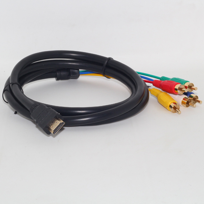 Mosunx 5ft Full HD 1080P HDMI Male to 5 RCA RGB Audio Video AV Component Cable