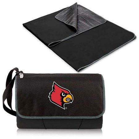 Picnic Time 820-00-175-304-0 University of Louisville Cardinals Digital Print NCAA Blanket Tote, Black - image 2 de 2