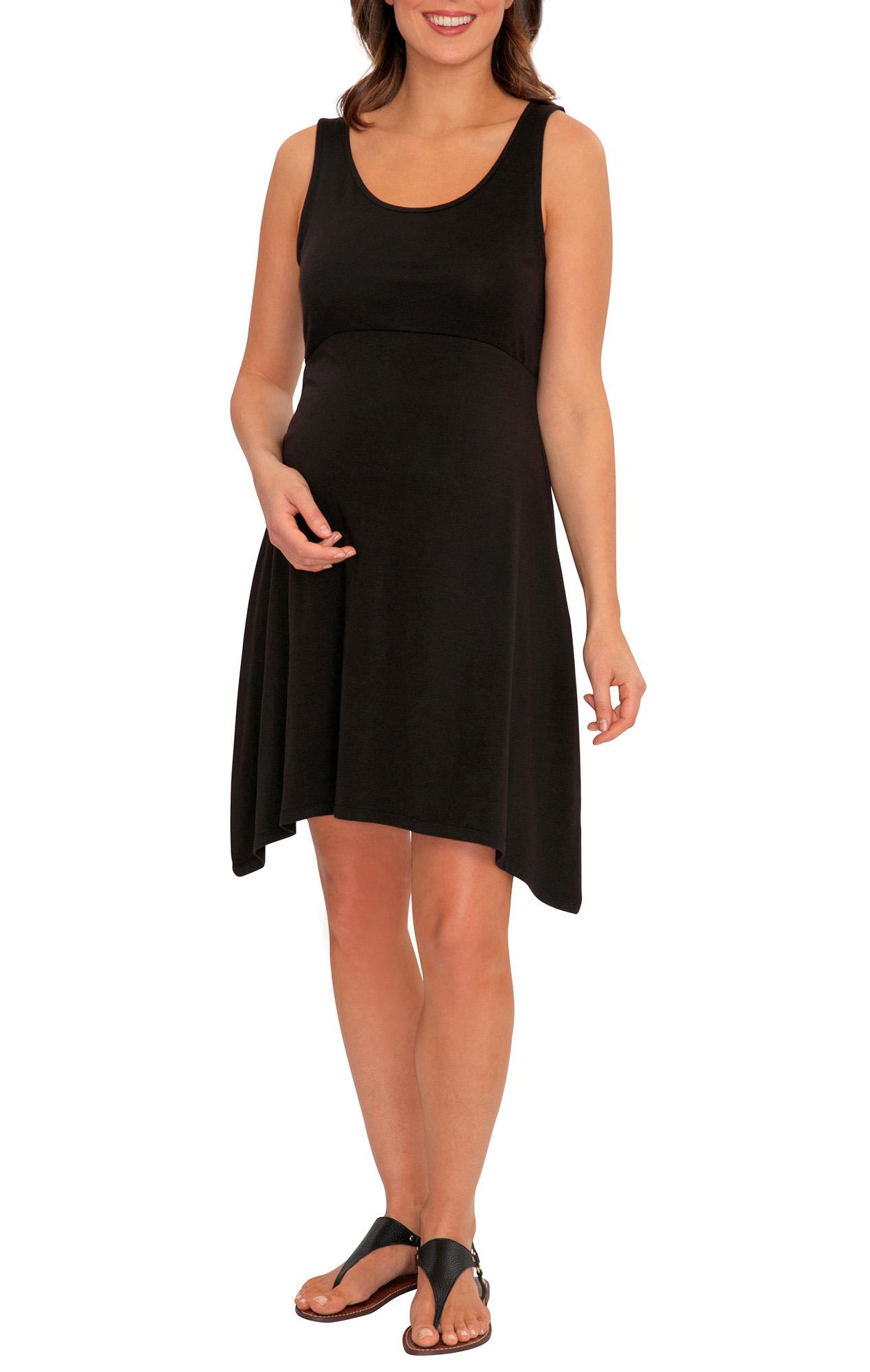 Great Expectations Maternity Handkerchief Hem Tank Top Dress Walmart Com Walmart Com