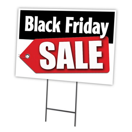 Black Friday Sale Yard Sign & Stake outdoor plastic coroplast window